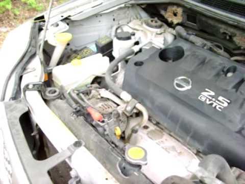 2006 Nissan Xtrail Crank Position Sensor Replacement. Video 2