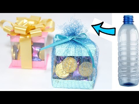 MAKE GIFT BOX FROM PLASTIC BOTTLE | BEST OUT OF WASTE COMPETITION | PLASTIC BOTTLE CRAFT
