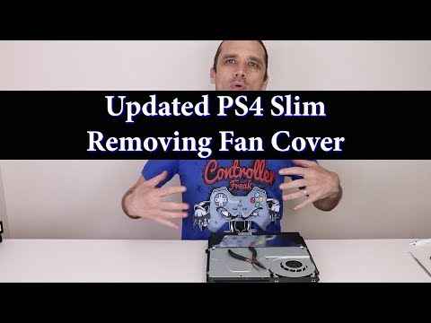 PS4 Slim Updated Fan Cover - How to Remove Plastic Welds
