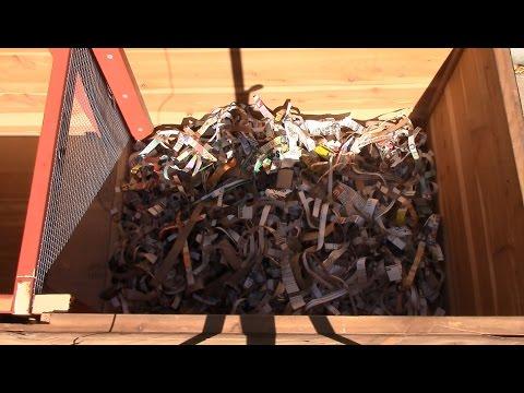 Horizontal migration worm bin