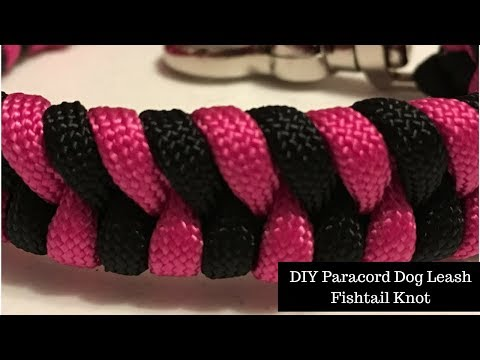 DIY Paracord Dog Tab Leash -  Fishtail
