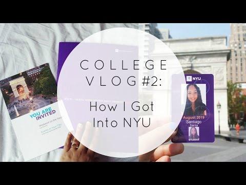 College Vlog #2 - How I Got Into NYU #NYU2019