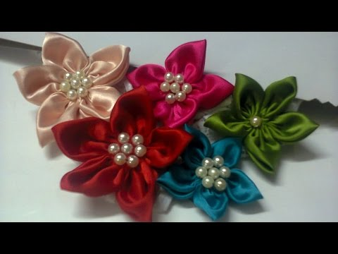 Create a Cute Satin Pearl Flower - DIY Crafts - Guidecentral