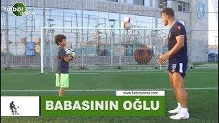 Emre Belözoğlu'nun oğlu yeteneklerini sergiledi