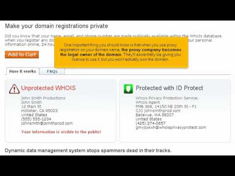 Private Domain Name Registration