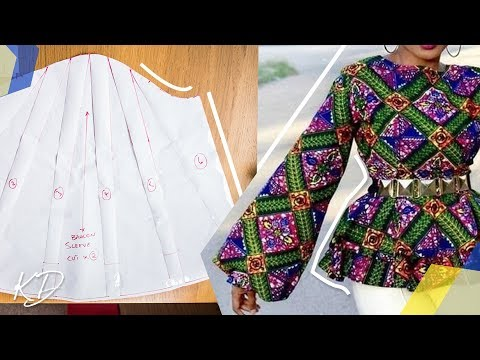 BALLOON SLEEVE PEPLUM BLOUSE [PATTERN TUTORIAL] | KIM DAVE