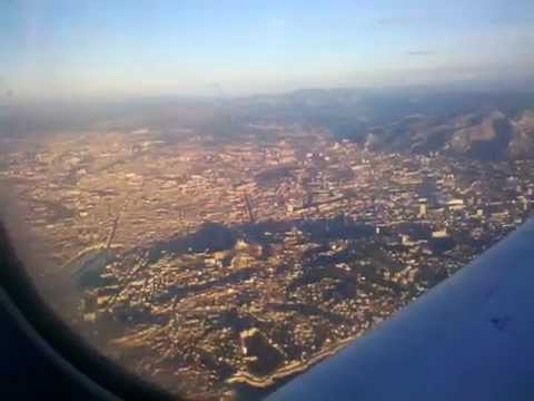 LH 2264 Embraer ERJ-190 approaching and landing at Marseille airport