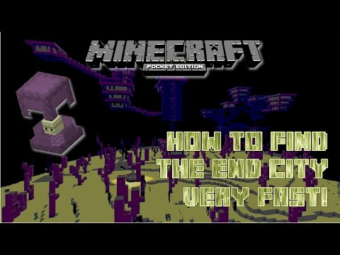Minecraft Pocket Edition :: How to find an End City FAST!! :: MCPE 0.17 :: New Command