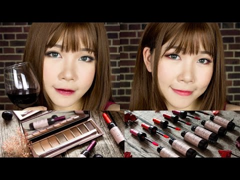 WINE MAKEUP?! | Chateau Labiotte Wine Lip Tint & Eyeshadow | Review+Makeup tutorial
