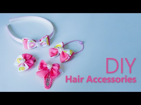 4 DIY Hair Accessories | Hair Tutorial with 4 DIY Quick Hairstyles for School | Beads art