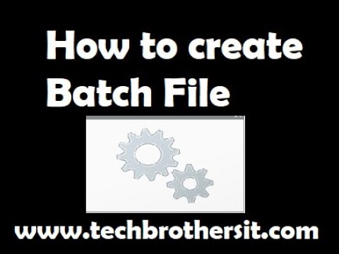 How to create a simple batch file   How to Write a Simple Batch File in Windows