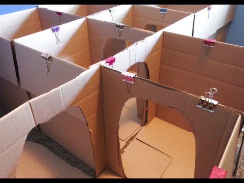 How to Make a Box Maze for Kids: Crafts for Kids! | Box House for Kids