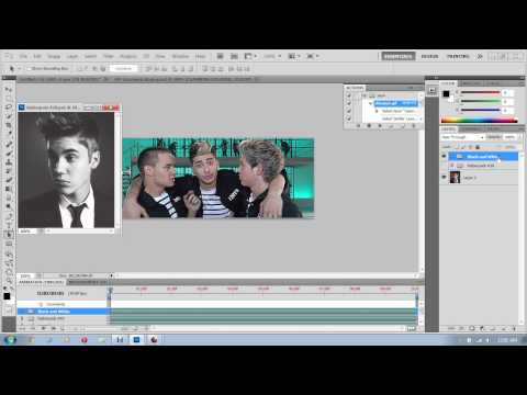 How to make a GIF and add a psd in Photoshop cs5