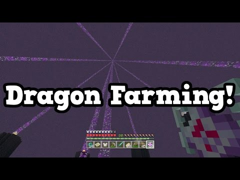 Minecraft Xbox One TU46 - Killing LOTS OF ENDER DRAGONS