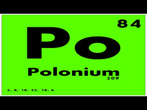 STUDY GUIDE: 84 Polonium | Periodic Table of Elements
