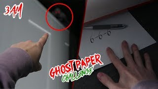 DO NOT PLAY THE GHOST PAPER CHALLENGE AT 3 AM! (SAW A DEMON) (GONE WRONG)
