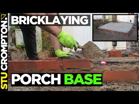 how to build porch base bricklaying tutorial