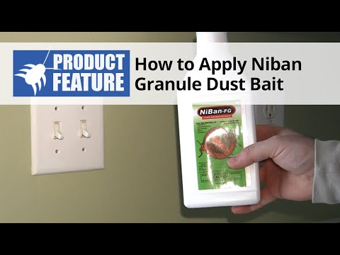 How to Apply NiBan Granule Dust Bait in Your Home