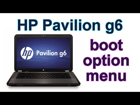 الدخول إلى بيوز أتش بي بافليون جي 6   enter bios boot hp pavilion g6