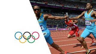 Manteo Mitchell (USA) Breaks Leg During 4 x 400m Relay - London 2012 Olympics