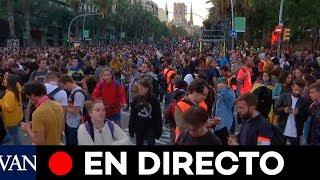 [EN DIRECTO] Los CDR se manifiestan en Barcelona tras los altercados de anoche