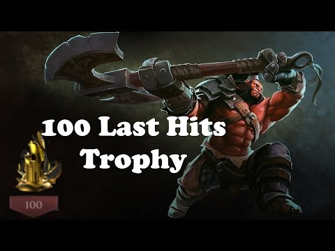 How to get the 100 last hits trophy (easiest way) Dota 2