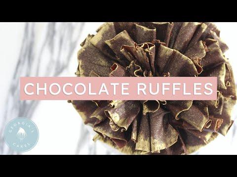 How To Make Chocolate Cake Ruffles | Georgia's Cakes
