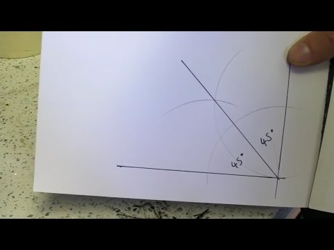 Finding 45 Degree From A Right Angle Using A Compass  - How To Draw / Bisect / Bisection