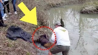 When This Guy Thought He Spotted A Giant Beaver Stuck In A Creek, He Quickly Sprang Into Action