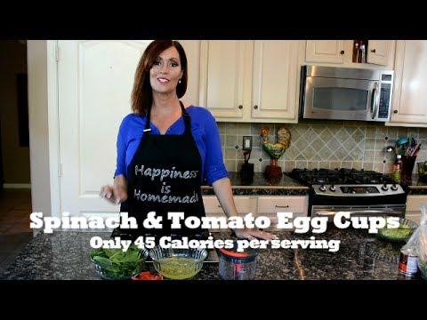Spinach & Tomato Egg Cups
