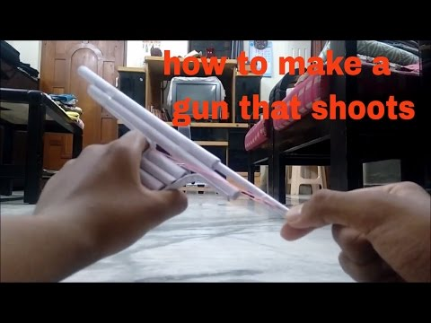 How to make a Paper Gun that Shoots - With Trigger | Creative Brainz