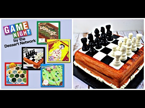 How to Make a Playable Chess Cake ~ Game Night Collaboration with the Dessert Network