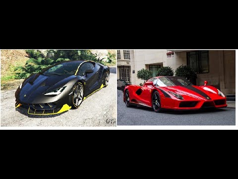 Lamborghini Aventador VS Ferrari Enzo Acceleration & Speed Test Gta V