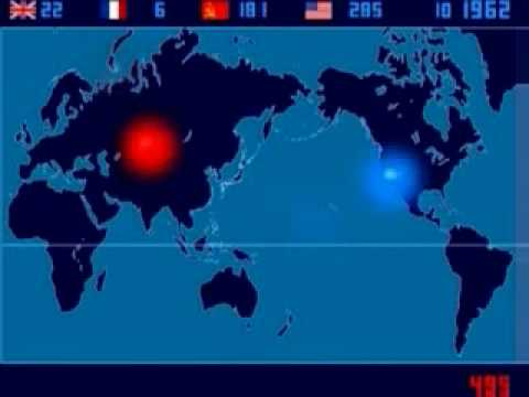 Map of Nuclear Explosions on the Earth from 1945-1998