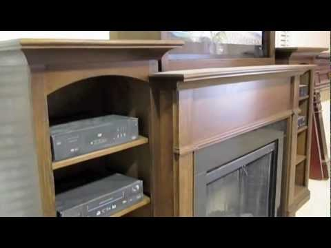 Fireplace, Mantel, and Bookcases - Custom Mantels