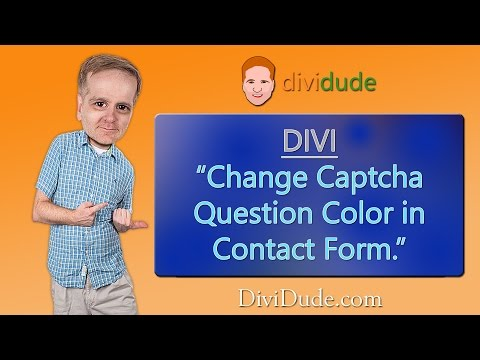 Divi Tutorial: Change Captcha Color In Contact Form
