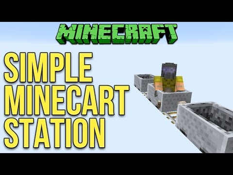 Minecraft 1.11 Simple Minecart Station Tutorial