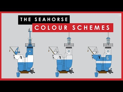 Three colour schemes for The Seahorse scale model