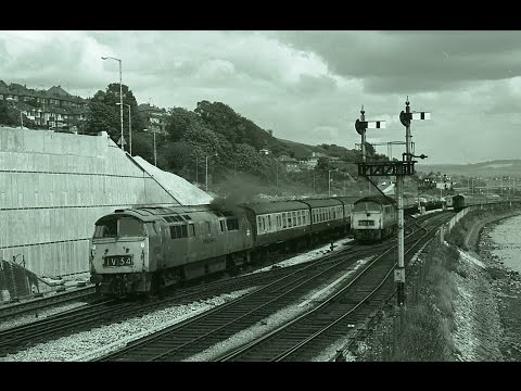 THEN & NOW: CLASS 52 'WESTERNS' AT LAIRA JUNCTION - 1973 and 2009