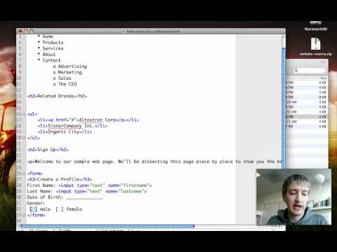 Google HTML/CSS/Javascript from the Ground Up Class: HTML Exercise