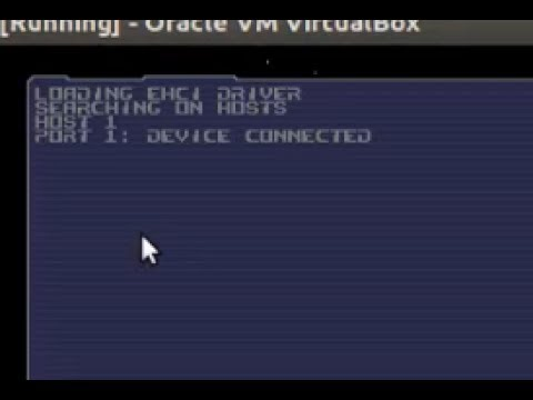 Plop boot manager problem (on Virtualbox) - port 1 device connected. then hangs & freeze