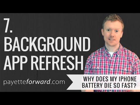 Why Does My iPhone Battery Die So Fast? 7. Background App Refresh