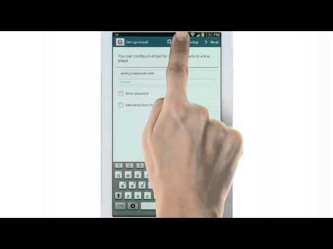 Galaxy Tab 3 - How-To-Video - Setting Up Email - Personal and Corporate