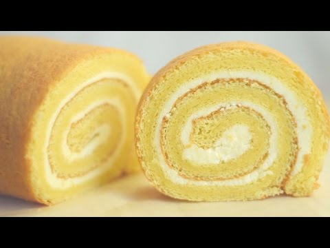 Swiss Roll Cake/Vanilla swiss roll cake/Basic swiss roll cake.