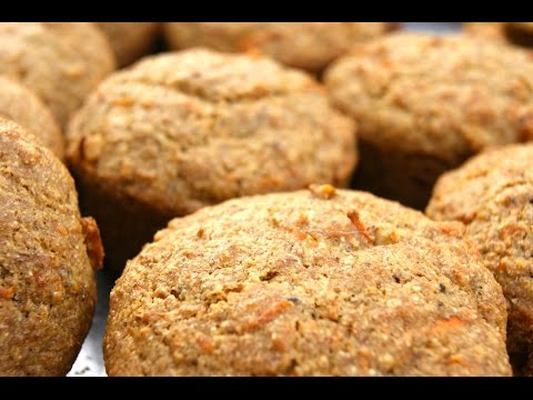Carrot muffins with organic whole wheat flour