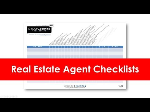 Real Estate Agent Checklist for buyers and sellers