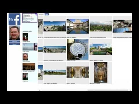 How to get Facebook photo albums in a Windows Store App