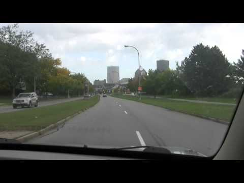A drive to downtown Rochester, NY.