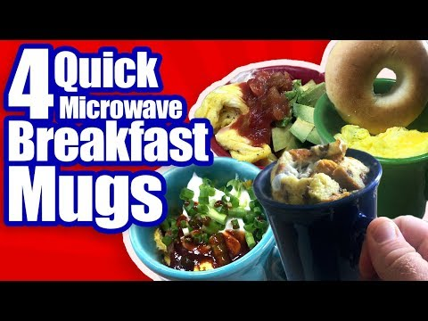 Four Microwave Breakfast Mug Recipes