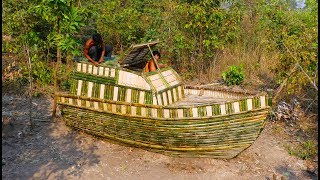 Build Boat House Using Bamboo